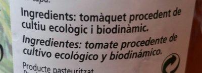 Tomate Triturado 670 G Bio Cal Valls - Ingredientes - fr