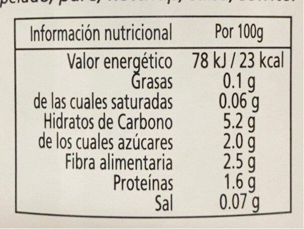 Tomate Triturado 670gr BIO - Información nutricional - fr