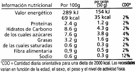 "Salsa de tomate ecológica ""Cal Valls"" - Nutrition facts - es"