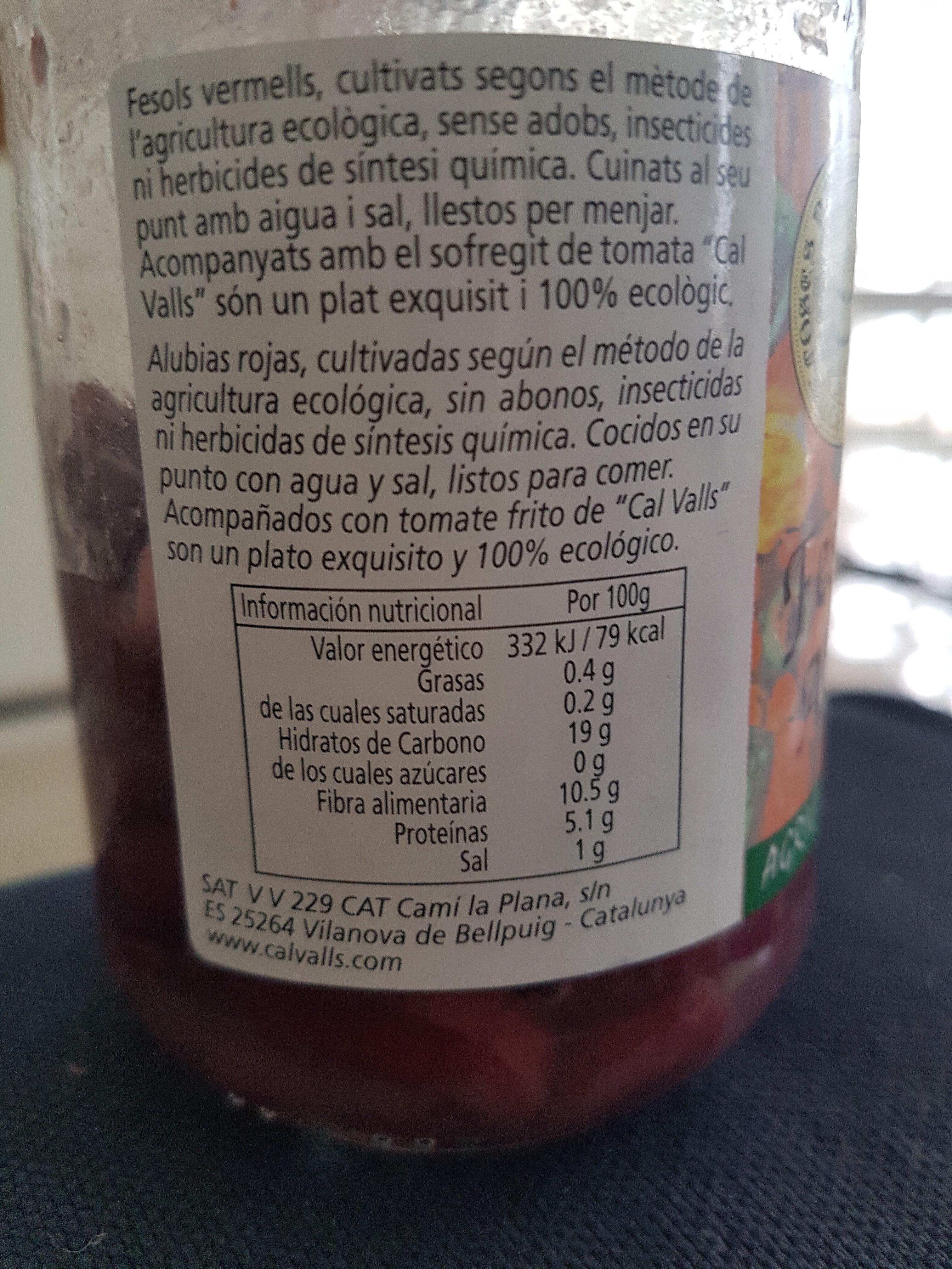 Alubias rojas - Nutrition facts - de