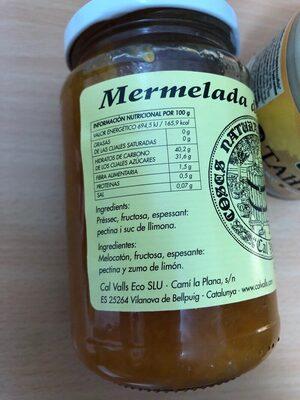 Mermelada de melocotón préssec - Ingrédients