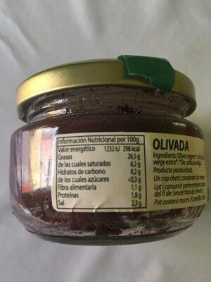 Olivada - Voedigswaarden