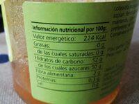 Mermelada de albaricoque - Voedingswaarden - es