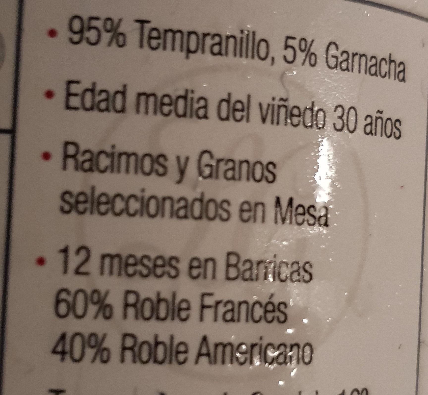 Luis Cañas - Ingredientes - es