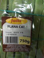 Judía plana - Informació nutricional