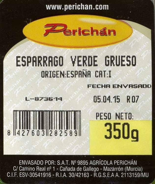 Espárragos verdes - Ingredients