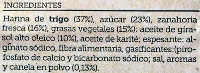 Zanahoria con canela - Ingredienti - es