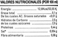 Limón exprimido - Informations nutritionnelles - es