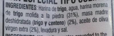 Pico Moreno - Ingredientes - es