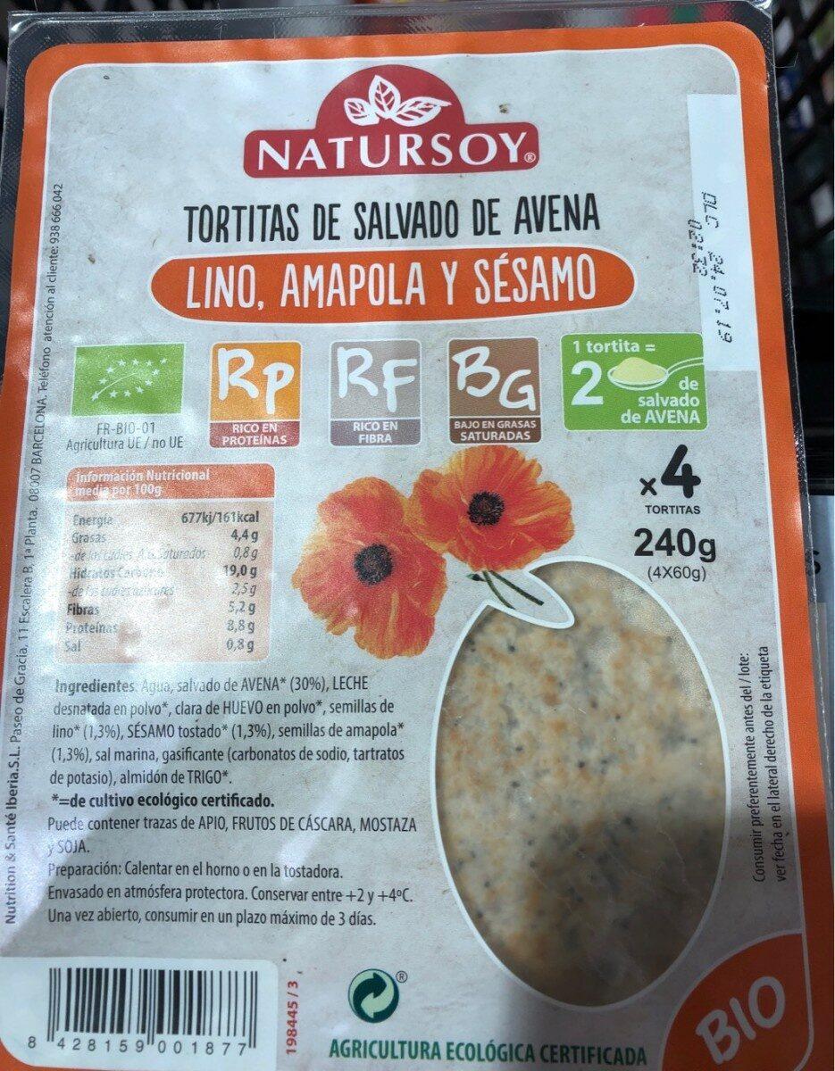 Tortitas de salvado de avena - Product - es