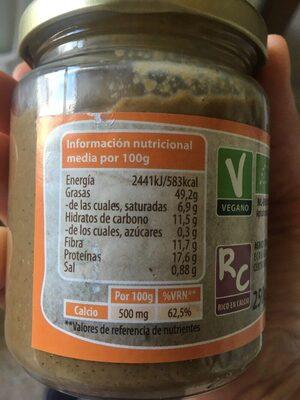 Tahín - Voedingswaarden