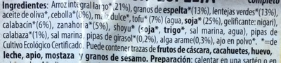 Arroz con espelta - Ingredients