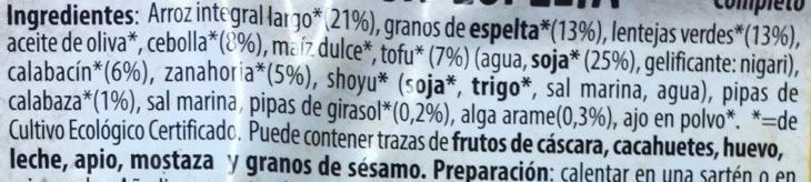 Arroz con Espelta - Ingredientes