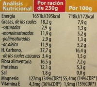Arroz con Espelta - Información nutricional