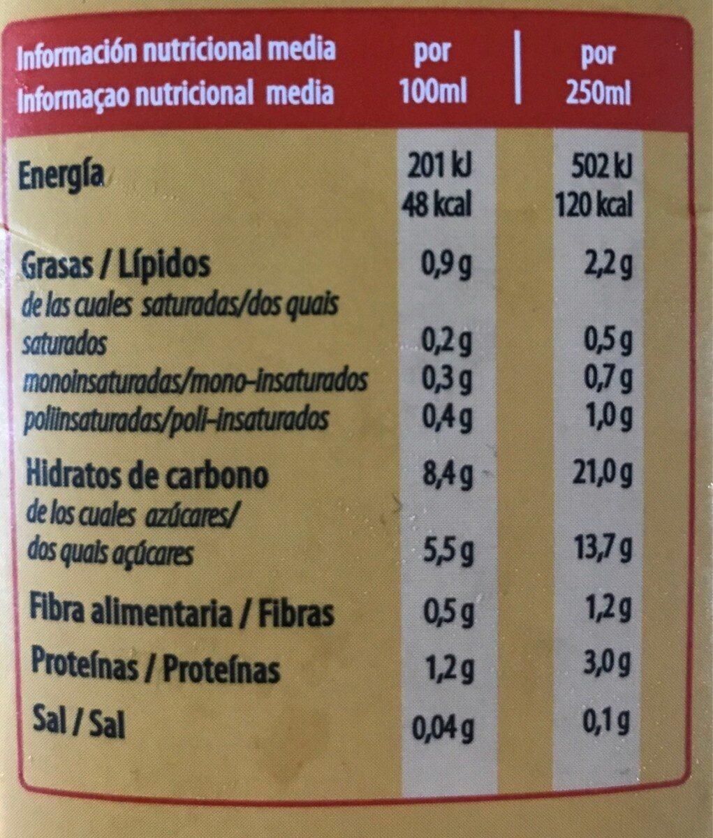 Bebida de avena - Informations nutritionnelles