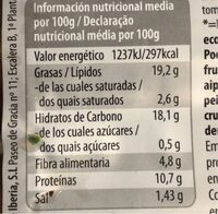 Albóndigas vegetales - Nutrition facts - es