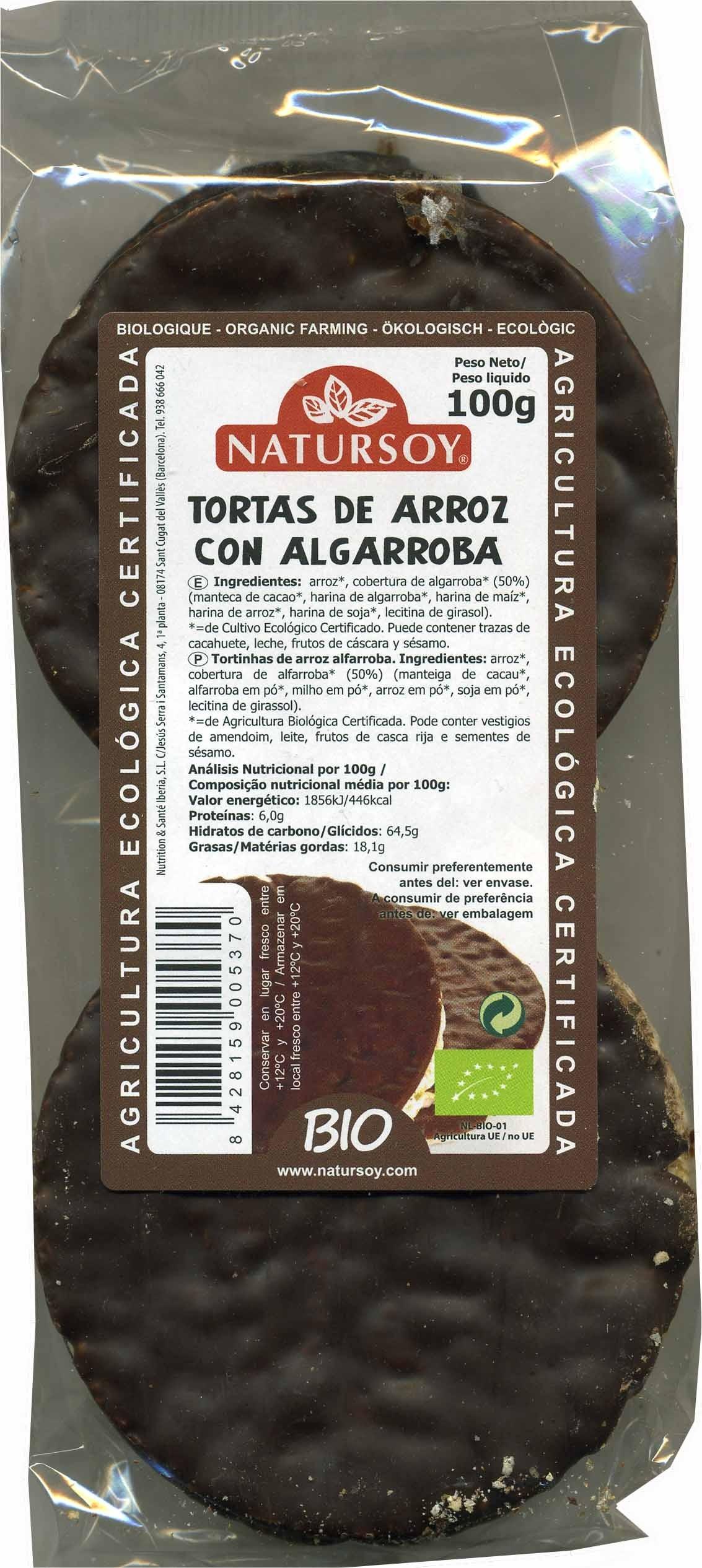 Tortitas de arroz con algarroba - Producto - es