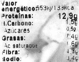 """Tofu ecológico """"Natursoy"""" Ajo y perejil - Informations nutritionnelles - es"""