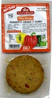 Hamburguesas vegetales Pimiento asado y curry - Product
