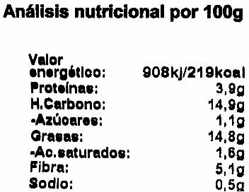 Hamburguesas vegetales Pimiento asado y curry - Nutrition facts - es