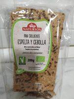 Pan Crujiente Espelta Y Cebolla (vegano) 200G Nat - Producte