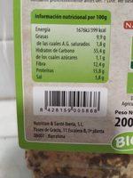 Pan Crujiente Espelta Y Cebolla (vegano) 200G Nat - Informació nutricional