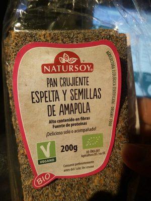 Pan Crujiente Espelta Y S. Amapolas (vegano) 200G - Product