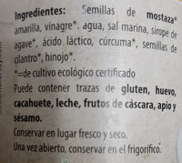 Mostaza francesa - Ingredientes - es