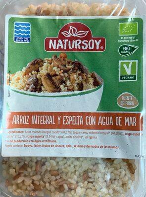 Arroz Integral y Espelta Cocinado con agua de mar - Produit - es