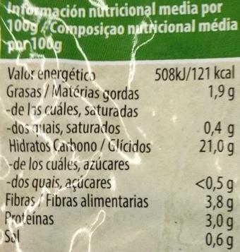 Arroz Integral y Espelta Cocinado con agua de mar - Informations nutritionnelles - es