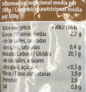 Arroz integral - Informations nutritionnelles - es