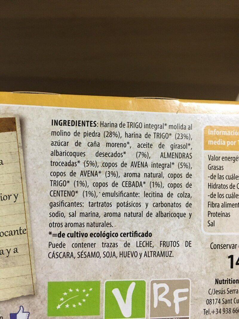 Galletas de cereales con almendras y albaricoques - Ingrédients - es