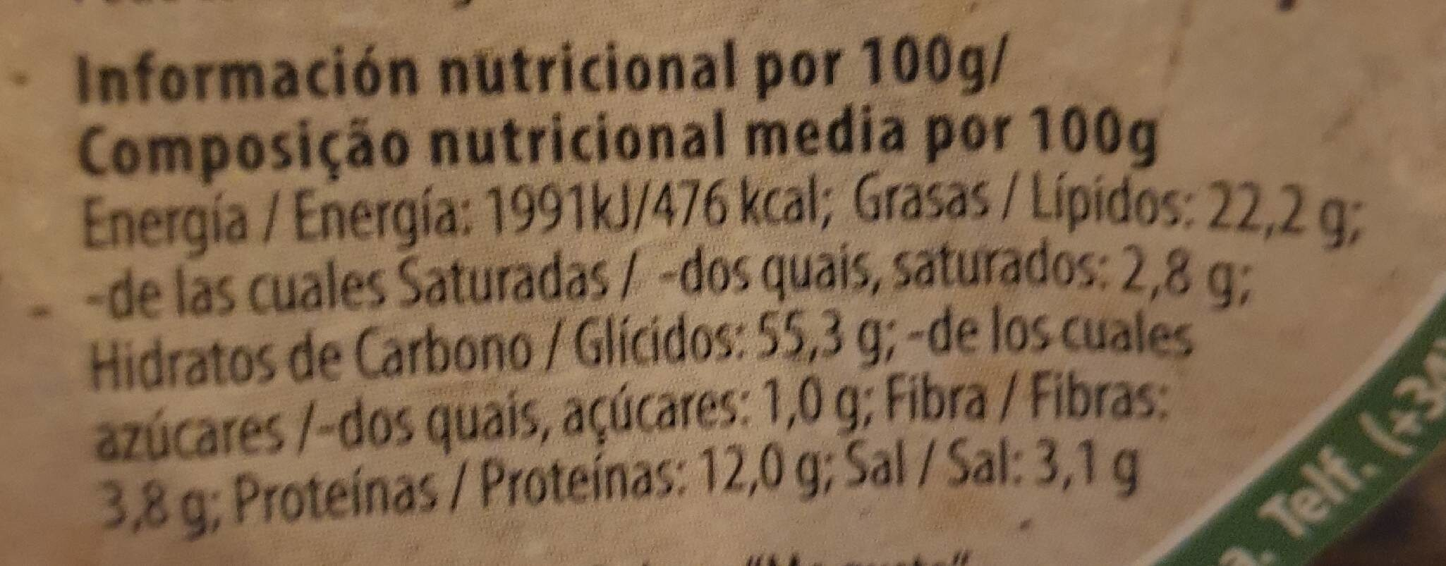 Chips de lentejas - Informations nutritionnelles - fr