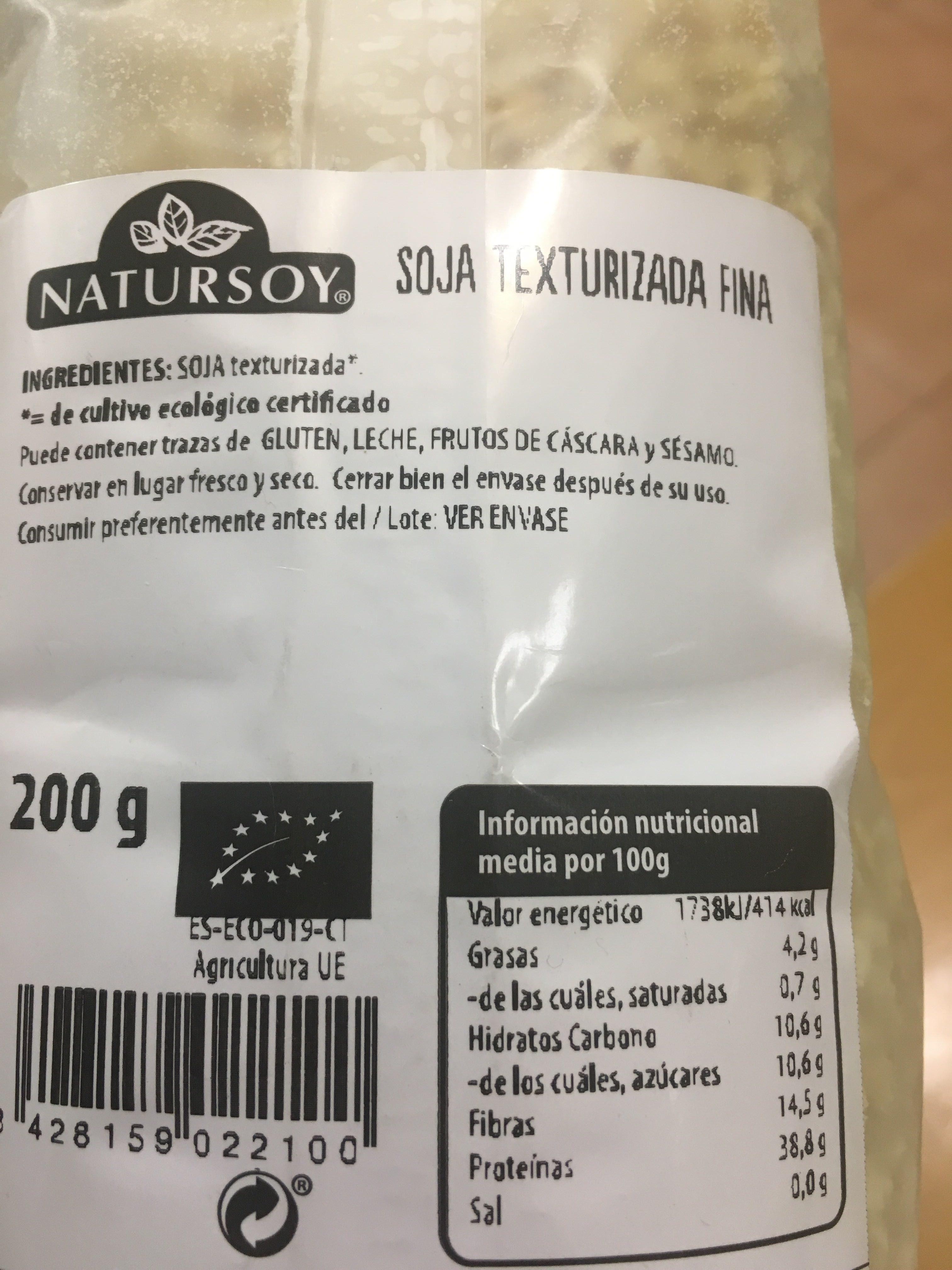 Soja texturizada - Producto - es