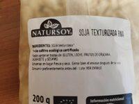 Soja texturizada - Información nutricional - es