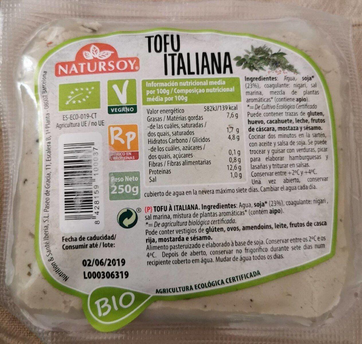 Tofu Italiana - Produit - fr