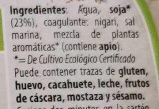 Tofu Italiana - Ingredientes