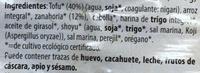 Tofu burger zanahoria - Ingredientes