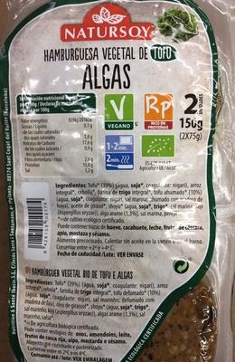 Hamburguesa vegetal de tofu algas - Producto - es