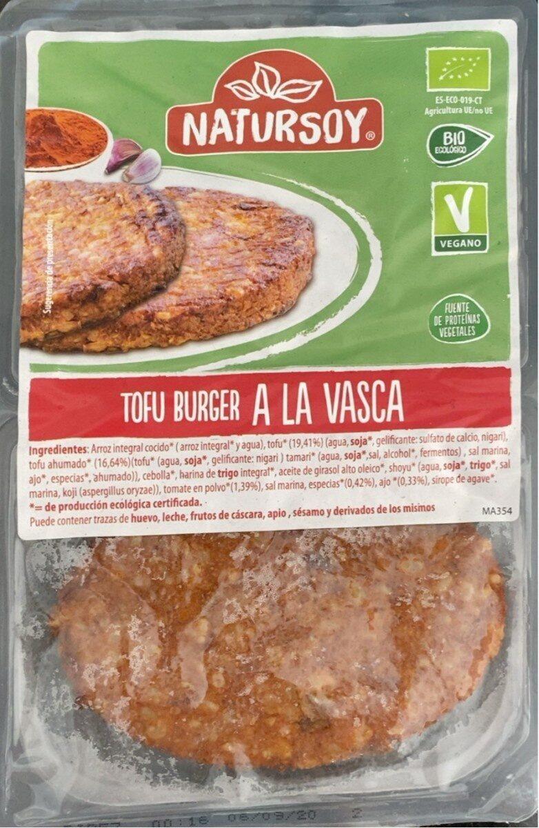Tofu Burger A la Vasca - Producto - es