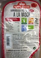 Hamburguesa vegetal de tofu a la vasca - Producto