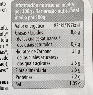 Tofu Burger A la Vasca - Información nutricional - es