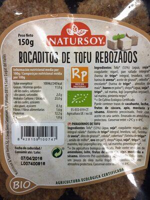 Bocaditos de tofu rebozados