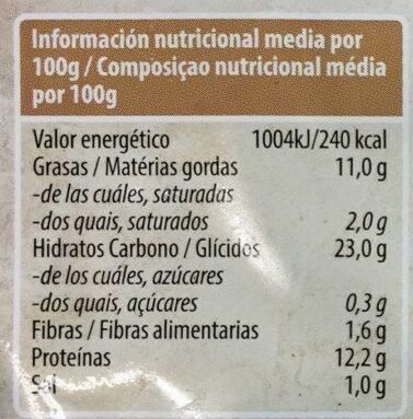 Bocaditos de tofu rebozados - Informations nutritionnelles