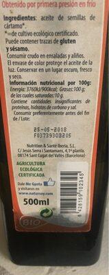 Aceite de semillas de cartamo - Informations nutritionnelles - es