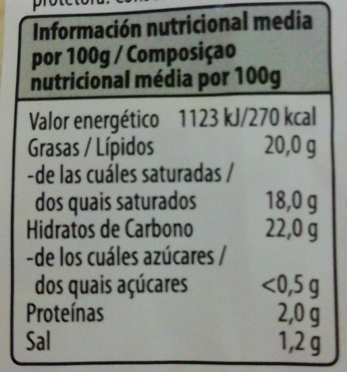 Veggieques rallado especial gratinar - Informations nutritionnelles