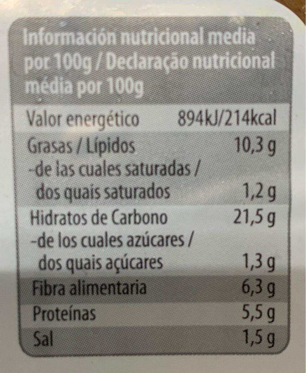 Cereal burger Sarraceno y judias - Voedigswaarden