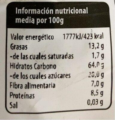 Muesli Crujiente - Informations nutritionnelles - fr