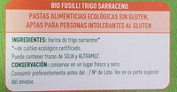 Bio Fusilli - Inhaltsstoffe - es