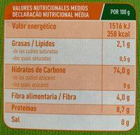 Bio Fusilli - Nährwertangaben - es